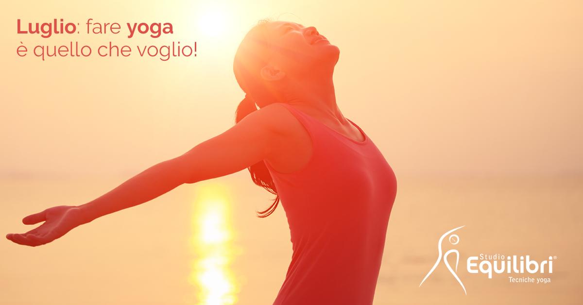 Luglio - offerta lezioni di yoga a Modena